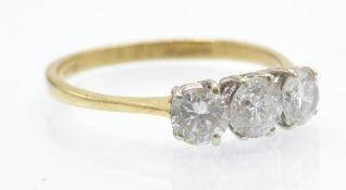An 18ct & Diamond Three Stone Ring