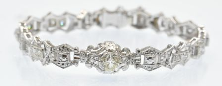 A White Gold & Diamond Bracelet