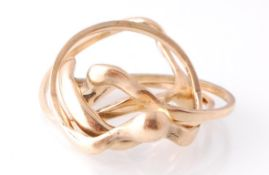 9CT GOLD HALLMARKED 4 PART PUZZLE RING