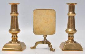A Victorian 19th century apprentice piece tilt top