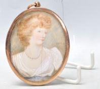A 19th Century Victorian portrait miniature of ova