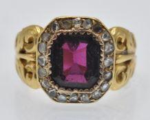 An Antique Garnet & Diamond Cluster Ring