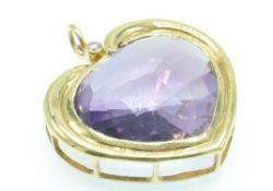 An 18ct Gold Amethyst & Diamond Pendant