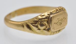 An Antique Gold Signet Ring