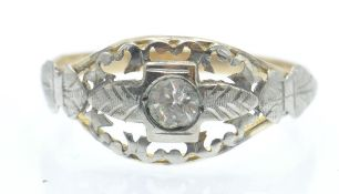 An Antique Italian Gold & Silver Ring