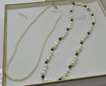 Two Gold & Cultured Pearl Necklaces