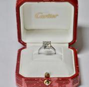 A Platinum & 4ct Diamond Ring