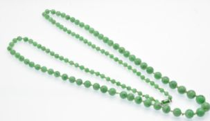 An Antique Jade Bead Necklace