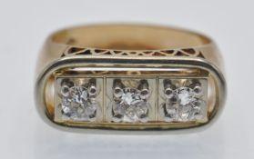 An 18ct Gold Platinum & Diamond Ring