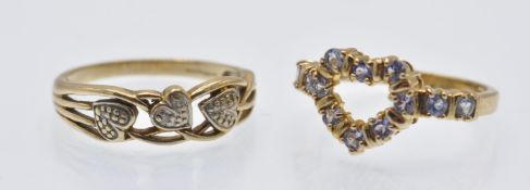 Two Hallmarked 9ct Gold Rings