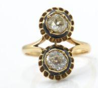 An 18ct Gold Enamel & Diamond Ring