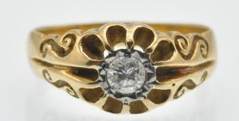 A Hallmarked 18ct Gold & Diamond Ring