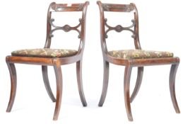 PAIR OF GILLOWS MANNER REGENCY SIDE CHAIRS