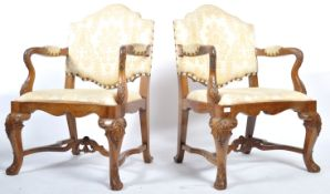 PAIR OF EARLY 18TH CENTURY QUEEN ANNE WALNUT CHAIRS