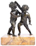 19TH CENTURY ITALIAN GRAND TOUR BRONZE FIGHTING CHERUBS