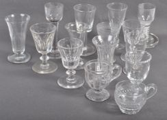 SUPERB COLLECTION OF ANTIQUE DRINKING GLASSES FROM 18TH CENTURY ONWARDS
