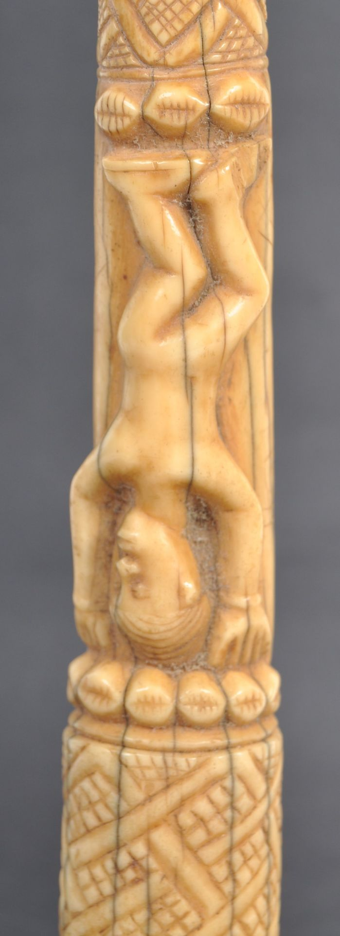 Los 554 - TRIBAL ANTIQUITIES - COLLECTION OF CARVED IVORY TUSKS