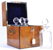 STUNNING BURR WALNUT QUADRUPLE DECANTER BOX