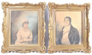 DIGHTON THE ELDER PAIR OF 1800 PORTRAIT PAINTINGS