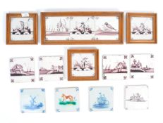 COLLECTION OF 18TH CENTURY DUTCH DELFT TILES