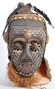 TRIBAL ANTIQUITIES - 19TH CENTURY CONGOLESE KUBA PWOOM ITOK MASK