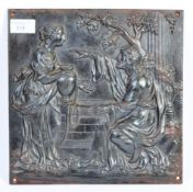 19TH CENTURY COALBROOKDALE MANNER CAST IRON RELIGIOUS PLAQUE