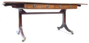 19TH CENTURY GEORGIAN ENGLISH MAHOGANY LIBRARY TABLE