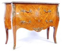 FRENCH LOUIS XV MANNER KINGWOOD MARBLE TOPPED COMMODE CHEST