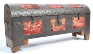 17TH CENTURY OR LATE SPANISH DOMED CHEST WITH METAL WORK