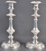 PAIR OF 19TH CENTURY SILVER WARRANTED TABLE CANDLESTICKS