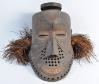 TRIBAL ANTIQUITIES - EARLY 20TH CENTURY KUBA BWOONG MASK