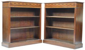 PAIR OF REGENCY REVIVAL MAHOGANY BOOKCASES