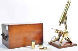 HENRY CROUCH OF LONDON POLISHED BRASS MICROSCOPE