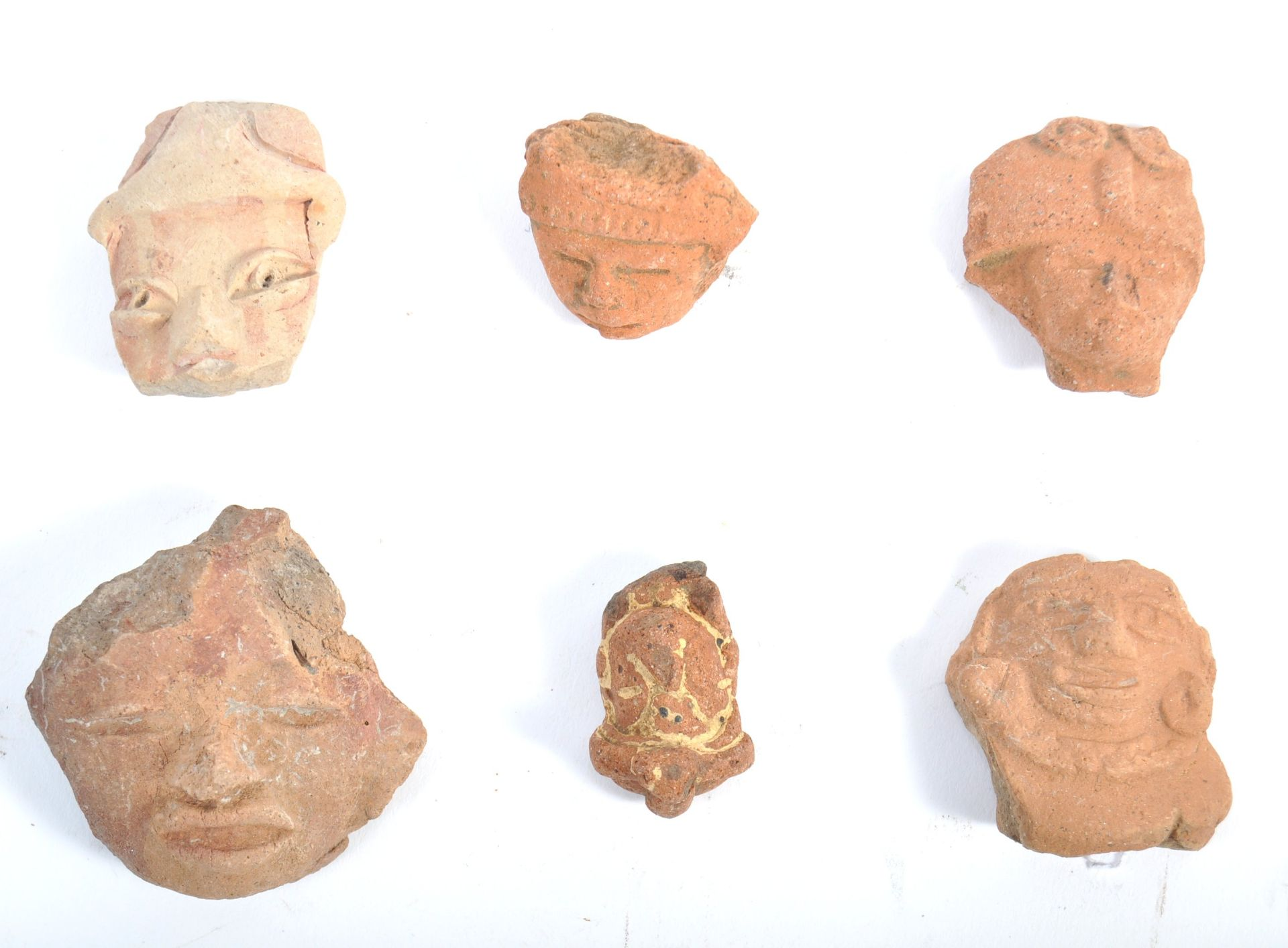 Los 629 - COLLECTION OF PRE-COLUMBIAN ERA MAYAN POTTERY HEADS