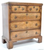 GEORGIAN STYLE WALNUT BACHELORS CHEST WITH FOLDING TOP