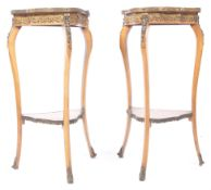 PAIR OF 19TH CENTURY FRENCH ANTIQUE MARQUETRY STANDS