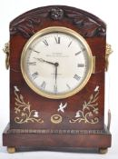 MACKIE OF LONDON WILLIAM IV MAHOGANY CASED MANTLE CLOCK