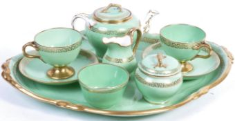 19TH CENTURY ENGLISH ANTIQUE CABARET TEA SET