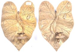 PAIR OF LIBERTY AND CO FROG AND FLY WALL SCONCES