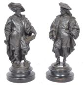 A PAIR OF 19TH CENTURY FRENCH SPELTER FIGURINES
