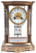 RARE 19TH CENTURY SAMUEL MARTI FOUR PANEL MANTLE CLOCK