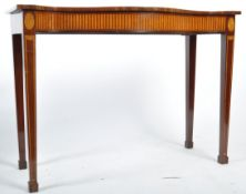 19TH CENTURY MAHOGANY AND SATINWOOD INLAY SIDE TABLE
