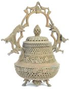 19TH CENTURY CHINESE / INDONESIAN BRONZE CENSER