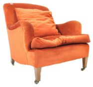 ORIGINAL HOWARD AND SONS UPHOLSTERED ARMCHAIR