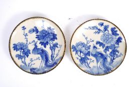 PAIR OF 19TH CENTURY JAPANESE BLUE AND WHITE PLATES