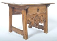 RARE 19TH CENTURY ANTIQUE PITCHED PINE ALPINE TABLE