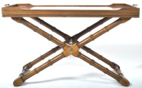 RARE 19TH CENTURY WALNUT AESTHETIC MOVEMENT TRAY ON STAND
