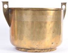 EARLY 20TH CENTURY ART DECO BRASS PLANTER POT