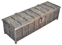 19TH CENTURY GOTHIC BRONZE CASKET BU ADOLPH FRANKAU & CO