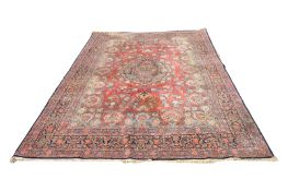 INCREDIBLE EARLY 20TH CENTURY MIDDLE EASTERN KASHAN CARPET